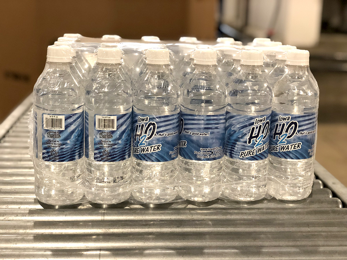 image of 24-pack of Iowa H2O 16.9 oz. water bottles