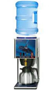 image of coffee maker with 5 gallon water bottle