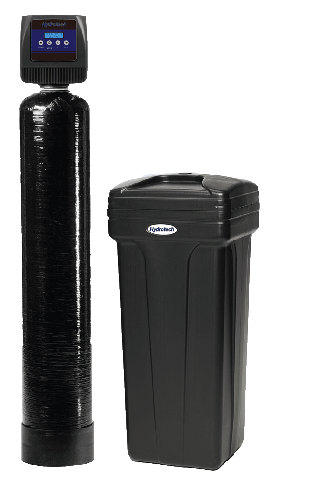 image of water softener and salt tank